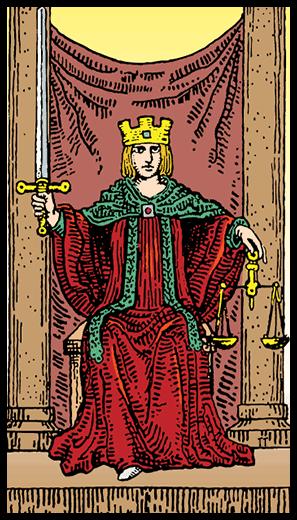 Adalet - Tarot Kartı