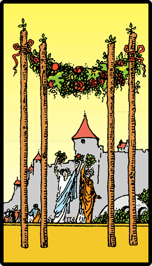 Asaların Dörtlüsü - Tarot Kartı