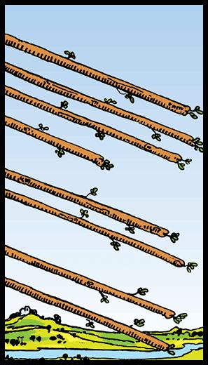 Asaların Sekizlisi - Tarot Kartı