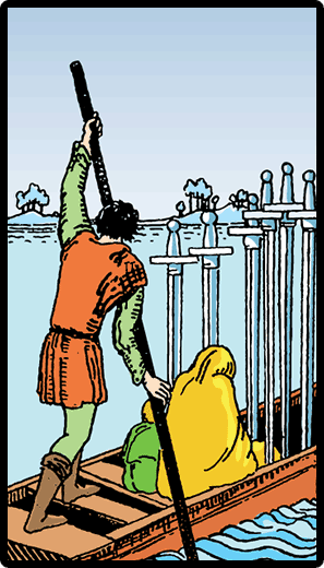 Kılıçların Altılısı - Tarot Kartı