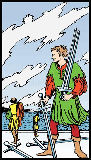 Kılıçların Beşlisi - Tarot Kartı