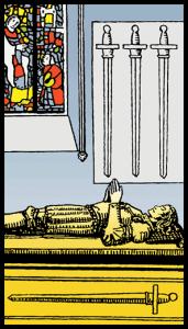 Kılıçların Dörtlüsü - Tarot Kartı