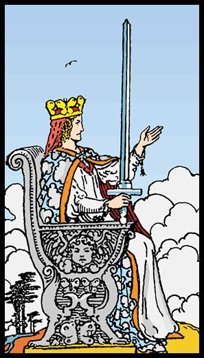 Kılıçların Kraliçesi - Tarot Kartı