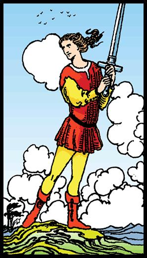 Kılıçların Uşağı - Tarot Kartı