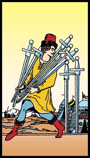 Kılıçların Yedilisi - Tarot Kartı
