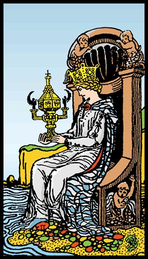 Kupaların Kraliçesi - Tarot Kartı