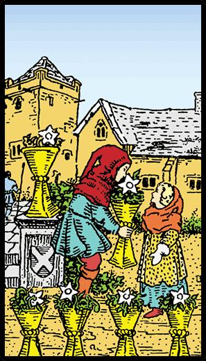 Kupaların Altılısı - Tarot Kartı