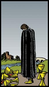 Kupaların Beşlisi - Tarot Kartı
