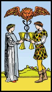 Kupaların İkilisi - Tarot Kartı