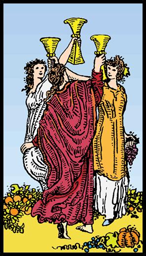 Kupaların Üçlüsü - Tarot Kartı