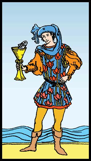 Kupaların Uşağı - Tarot Kartı